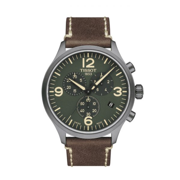 TISSOT T-Sport Chronograph XL Olive Green Dial Men's Watch
