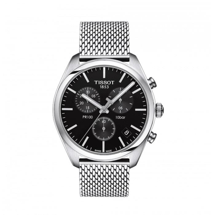 TISSOT PR 100 Chronograph Black Dial Watch