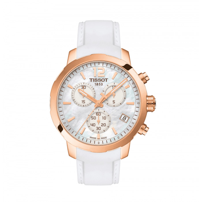 TISSOT Quickster Chronograph Mother of Pearl Dial Ladies Watch