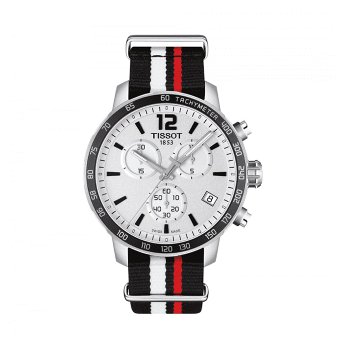 TISSOT Quickster Chronograph Silver Dial Men's Watch