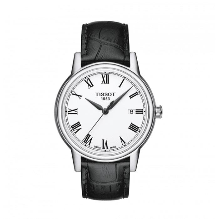 TISSOT Carson White Dial Black Leather Men's Watch