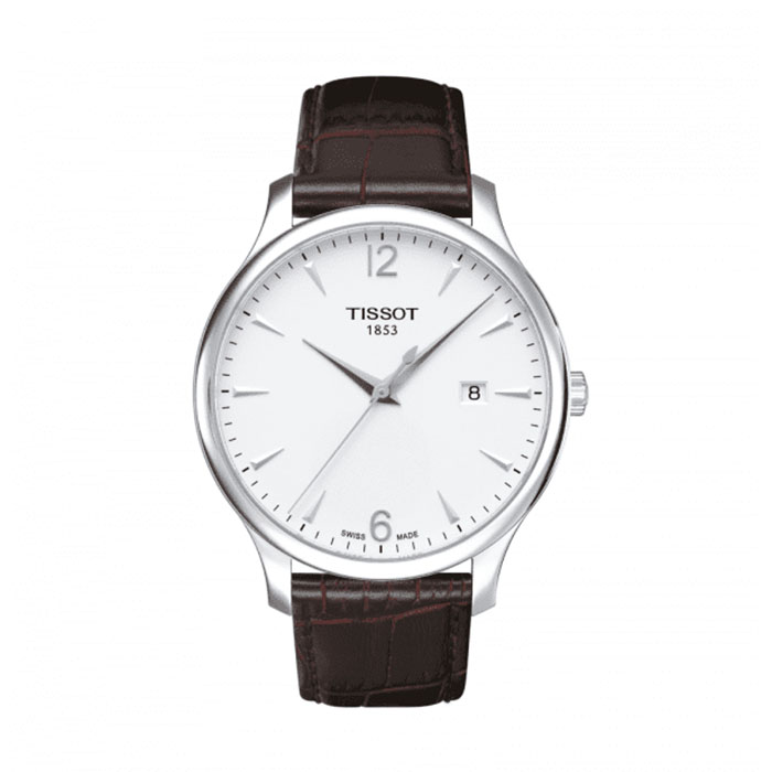 TISSOT T Classic Tradition Silver Dial Brown Leather Men's Watch