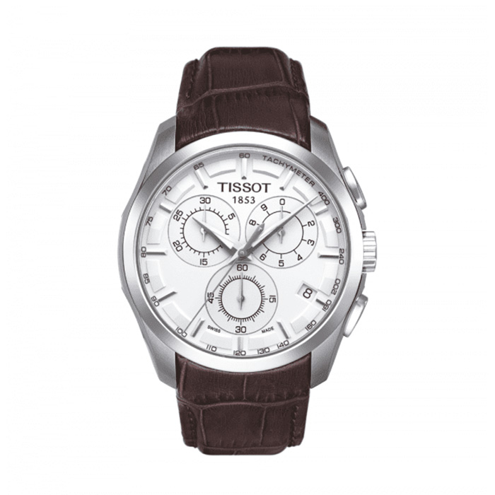 TISSOT Couturier Silver Dial Chronograph Men's Watch