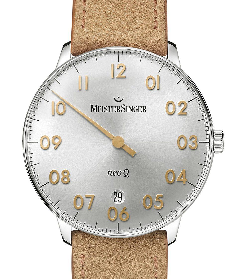 MEISTERSINGER Neo Q Sunburst Silver-white