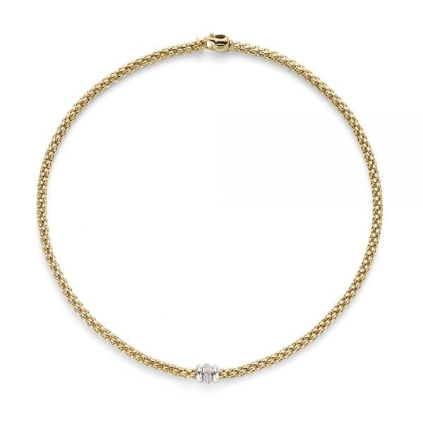 Fope Flex'it Solo Yellowgold Necklace