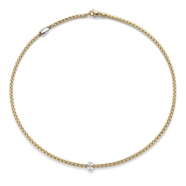 Fope Flex'it Eka Tiny Yellowgold Necklace