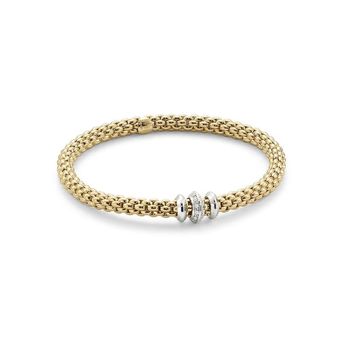 FOPE Flex'it Solo Yellowgold Bracelet