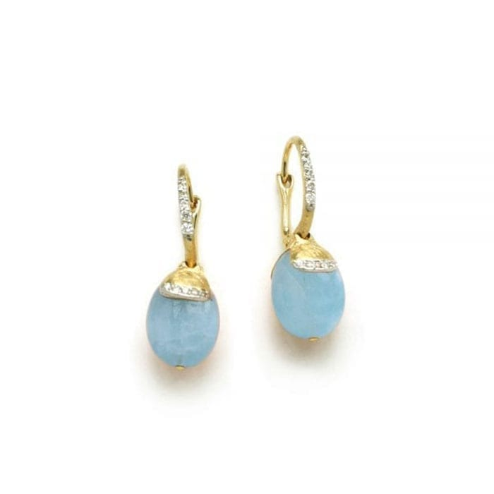 NANIS Dancing in the Rain Earrings Aquamarine