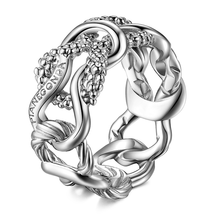 PIANEGONDA Foedus Silver Ring