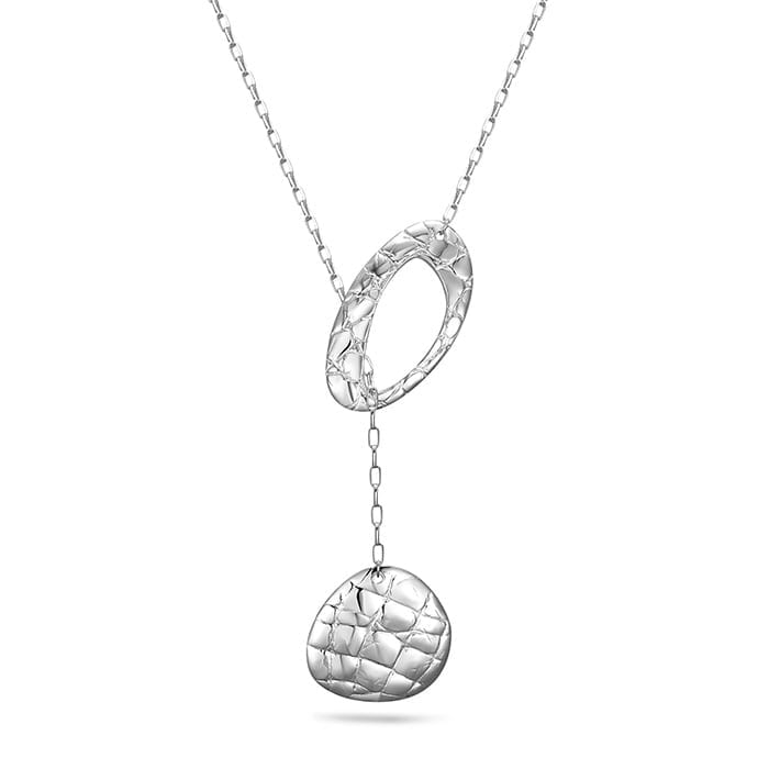 PIANEGONDA Reptilis Silver Necklace