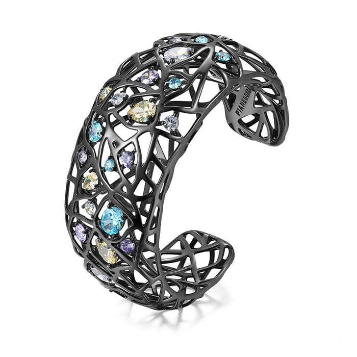 PIANEGONDA Nexum Silver and Black Bracelet
