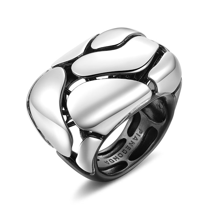 PIANEGONDA Clipea Silver Ring
