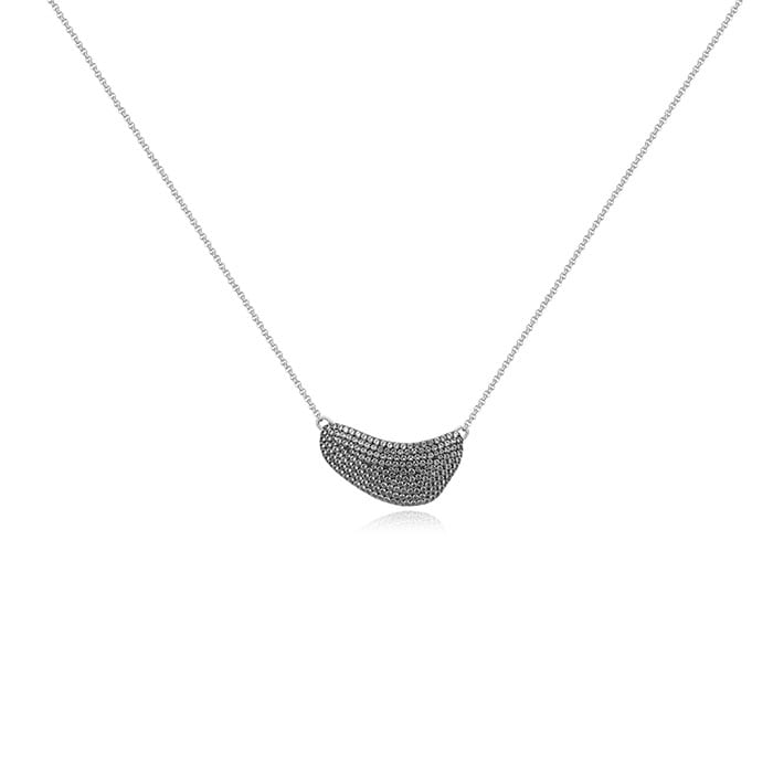 PIANEGONDA Clipea Silver and Black Necklace